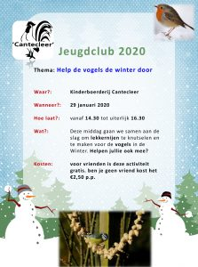 Jeugdclub 2020 'help de vogels de winter door'