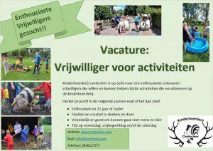 Vacature: Vrijwilliger voor activiteiten