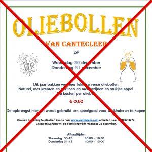 Oliebollenactie gaat niet door!